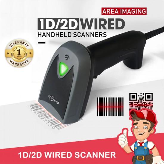 Wired Scanner 1D & 2D Barcode Scanner