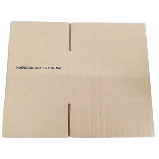 (250mmx195mmx160mm, Set of 10) Evio Asia Small Cardboard Shipping Box Kotak