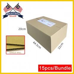 (445mmx320mmx200mm, Set of 15) Evio Asia Single Wall Cardboard Carton Box Kotak