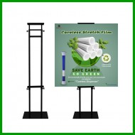 Adjustable Height Metal Poster Stand Poster Banner Display Bunting Stand