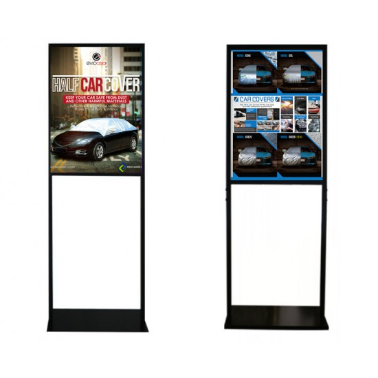 Evio Asia Metal Poster Display Double Stand