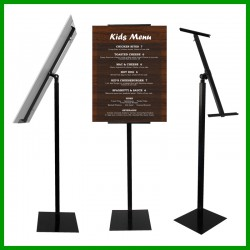 Evio Asia Adjustable Rotating Poster Stand Menu Holder Stand(Single Stand,Black)