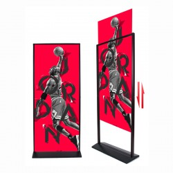 Vertical Floor Standing Advertising Poster Display Stand (Black, Size: 80x180cm)