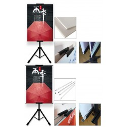 Evio Asia Tripod Display Stand T Bunting Banner Advertising Double Sided