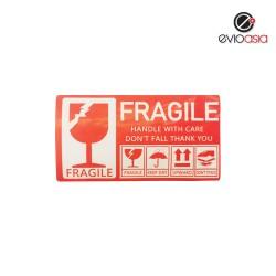 "Fragile Warning Label Sticker  3"" X 5"""