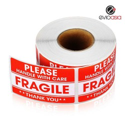 "Fragile Warning Label Sticker 2"" x 3"""