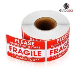 "Fragile Warning Label Sticker 2"" x 3"""