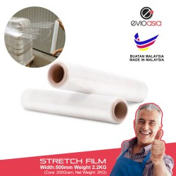 Evio Asia Stretch Film Wrapping Plastic Film -500MM x 2.2kg