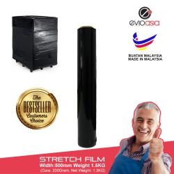 Evio Asia Black Stretch Film -500mm x 1.5kg