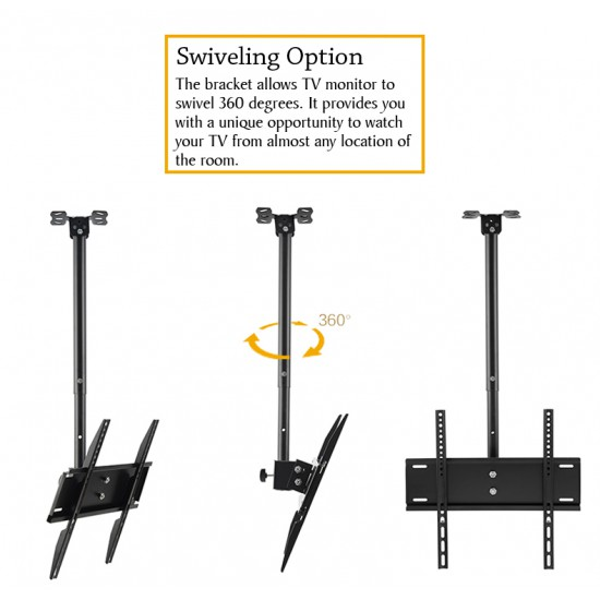 Evio Asia LCD LED TV Tilt Ceiling Wall Mount TV Bracket fits most 32''-72''