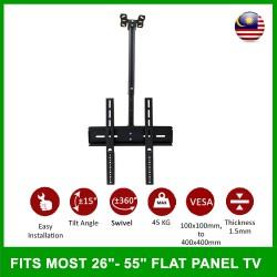 LCD LED TV Tilt Ceiling Wall Mount TV Bracket Fits Most 26'-55''