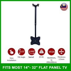 LCD LED TV Tilt Ceiling Wall Mount TV Bracket Fits Most 14''-32''