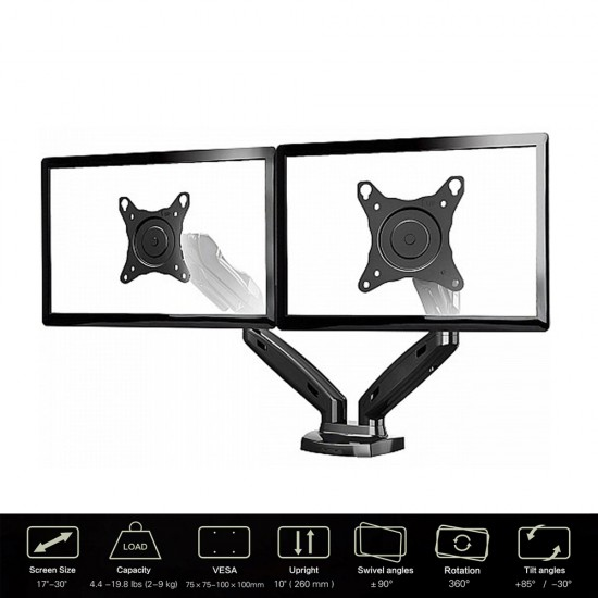 """Dual Monitor Desk Stand 17""""-30"""""""