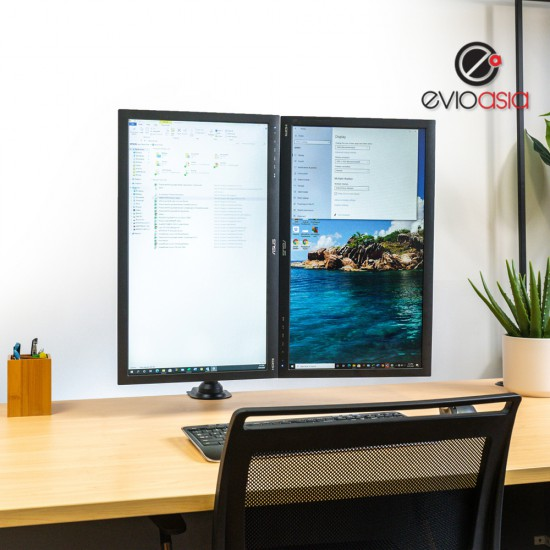 """Dual Monitor Desk Stand 22"""" to 32"""""""