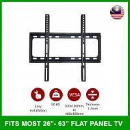 "LED LCD Flat Panel TV Bracket Wall Mount For 26''-63"""