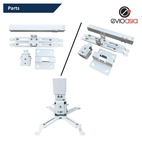 Projector Ceiling Mount 43-65cm retractable length ceiling wall dual universal