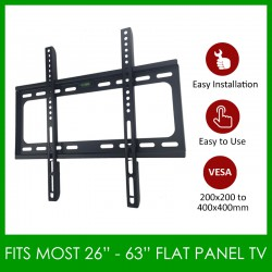 LED/LCD Flat Panel TV Bracket Plasma Wall Mount Support Mural For 26''-63'' TV