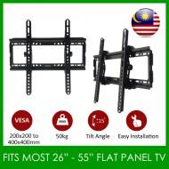 LCD LED Plasma Flat Tilt TV Wall Mount Bracket Suitable For 26''-55''