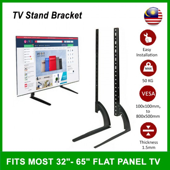 """TV Table Mount Desk Stand Bracket for Most 32"""" -65"""""""
