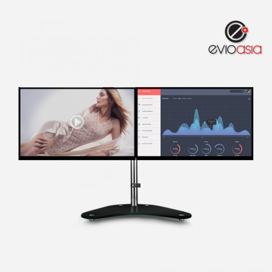 """Dual Monitor Stand with Tempered Glass 15""""-27"""""""