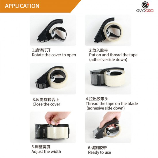 High Quality Powerful Tape Dispenser Easy Grip Quick Cut Packing Tape