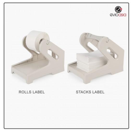 Thermal Printer Label Holder (Rolls and Stacks)