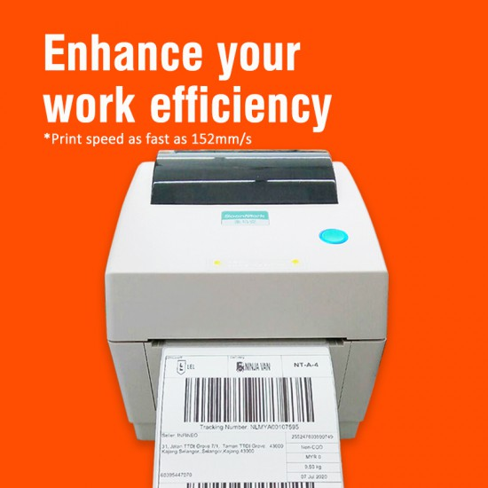 High Speed Wireless & Wired Thermal Barcode Label Printer SMK-M8 for Shipping Label