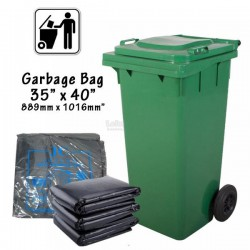 Garbage Plastic Bag 35'' X 40'' (889mm Width x 1016mm Height) 10pcs/pack