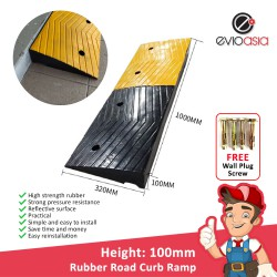 Heavy Duty Rubber Road Curb Ramp, Height 100MM