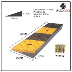 Heavy Duty Rubber Road Curb Ramp, Height 47MM