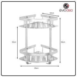 Aluminum 2-tier Triangle Shelf Storage Rack For Bathroom (No Drilling)