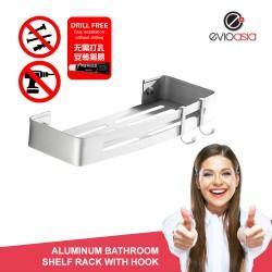 Aluminum Bathroom Shelf Rack with Hook