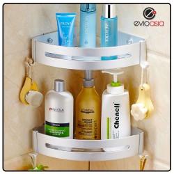 Aluminum Bathroom Triangle  Shelf Rack with Hook